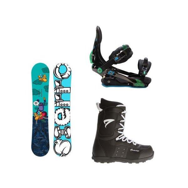 Sierra Stunt Snowboard W / Arctic Edge Snowboard Boots & Rome S90 Snowboard Bindings U.S.A. & Canada