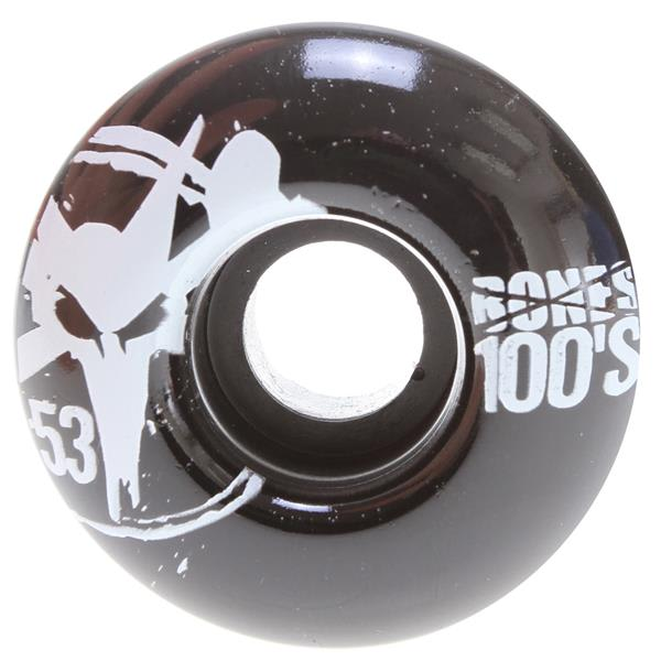 Bones 100' S Og Skateboard Wheels Black 53Mm U.S.A. & Canada