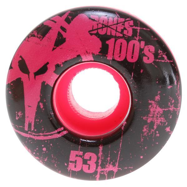 Bones 100' S Og Skateboard Wheels Pink 53Mm U.S.A. & Canada