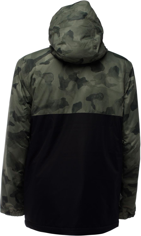Black camo snowboard jacket