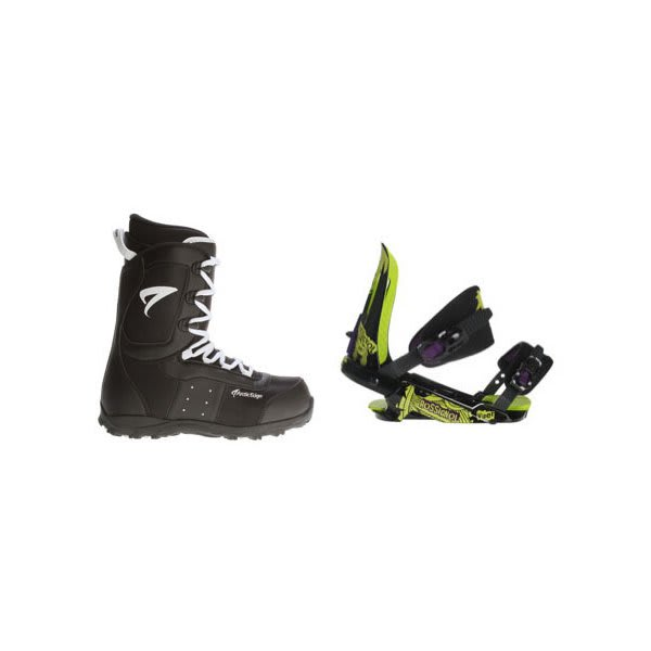 Arctic Edge Snowboard Boots W / Rossignol Viper V1 Bindings Black / Lime U.S.A. & Canada