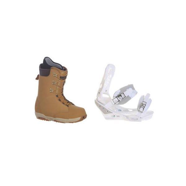 Burton Boxer Snowboard Boots W / Burton Triad Bindings White U.S.A. & Canada