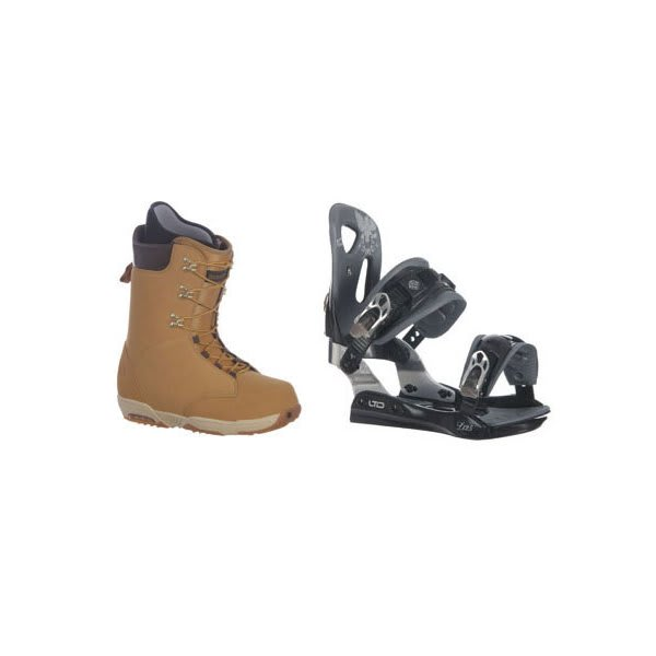 Burton Boxer Snowboard Boots W / Ltd Lt25 Bindings Black U.S.A. & Canada