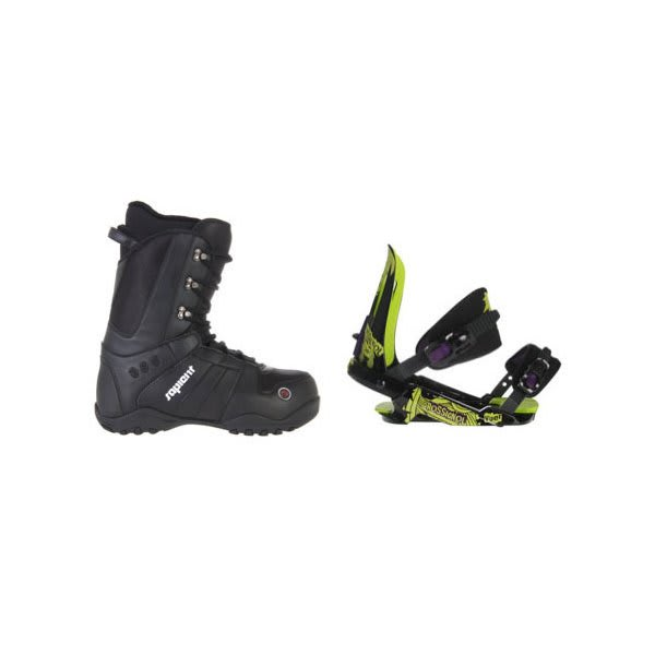 Sapient Method Snowboard Boots W / Rossignol Viper V1 Bindings Black / Lime U.S.A. & Canada