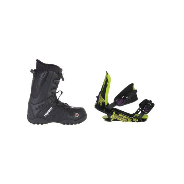 Sapient Method Speed Lace Snowboard Boots W / Rossignol Viper V1 Bindings Black / Lime U.S.A. & Canada