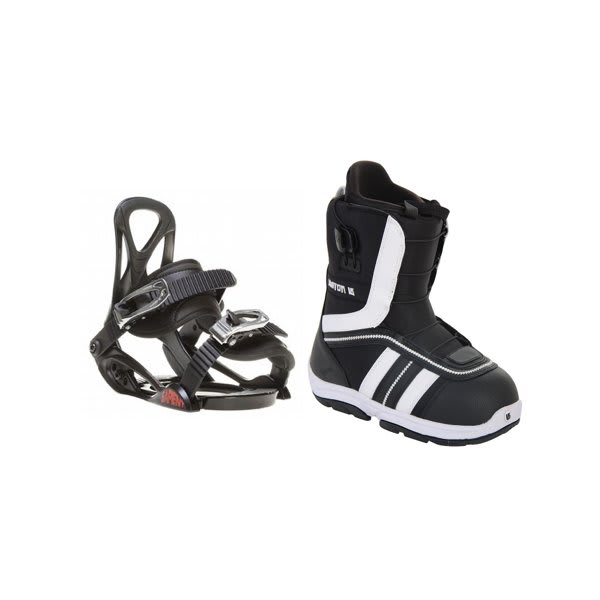 Burton Ruler Smalls Snowboard Boots Black / White W / Sapient Prodigy Bindings Black U.S.A. & Canada