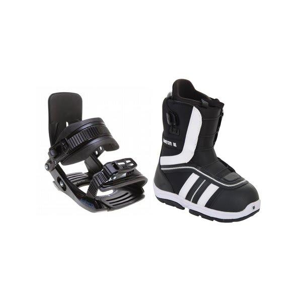 Burton Ruler Smalls Snowboard Boots Black / White W / Salomon Team Bindings Black U.S.A. & Canada