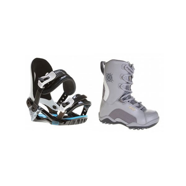 Lamar Force Snowboard Boots Charcoal W / Morrow Axiom Bindings Black U.S.A. & Canada