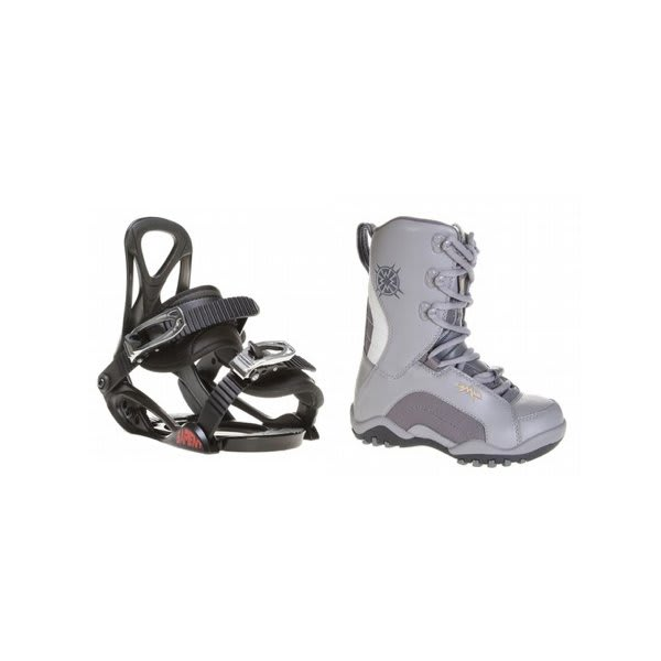 Lamar Force Snowboard Boots Charcoal W / Sapient Prodigy Bindings Black U.S.A. & Canada