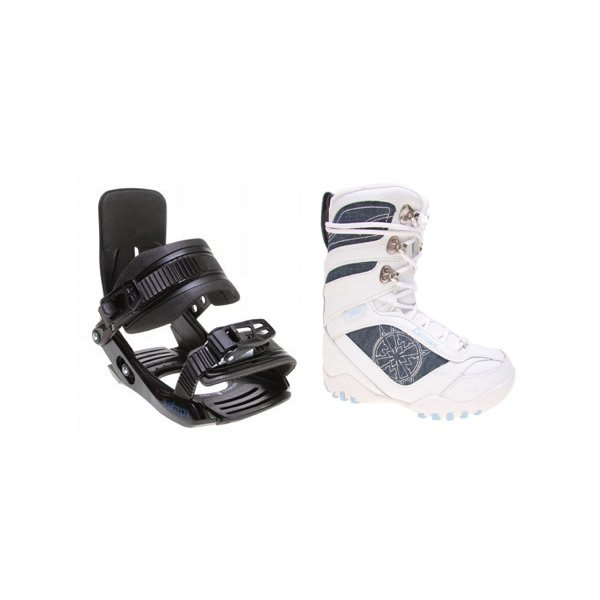Lamar Justice Snowboard Boots White W / Salomon Team Bindings Black U.S.A. & Canada