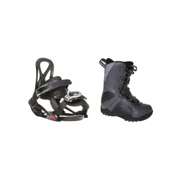Ltd Classic Snowboard Boots Grey / Black W / Sapient Prodigy Bindings Black U.S.A. & Canada