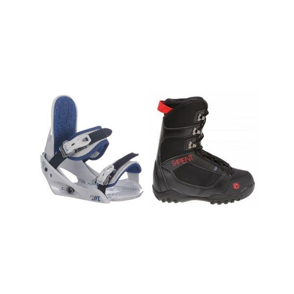 Sapient Prodigy Snowboard Boots Black W / Burton Freestyle Jr Bindings Lt Grey U.S.A. & Canada