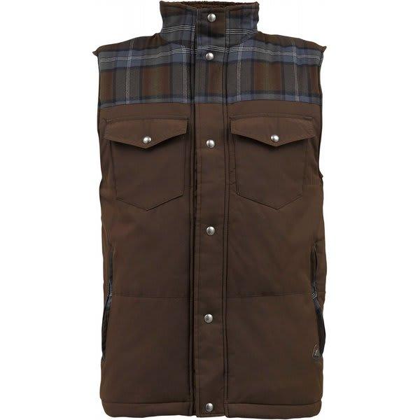 Burton Biggs Puffy Snow Vest Grizzly U.S.A. & Canada