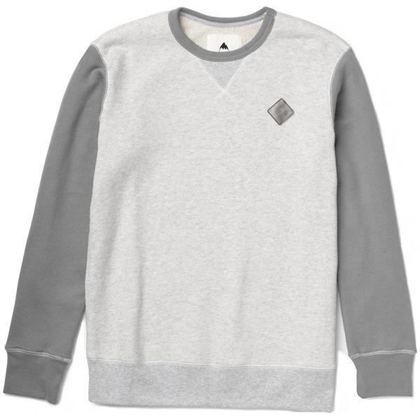 Burton Decade Crew Pullover Sweatshirt Heather Pewter U.S.A. & Canada