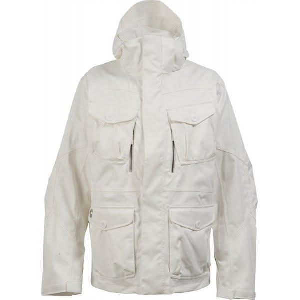 White burton snowboard jacket