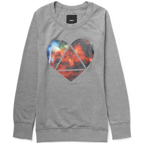 Burton Mystic Crew Sweatshirt Heather Pewter U.S.A. & Canada
