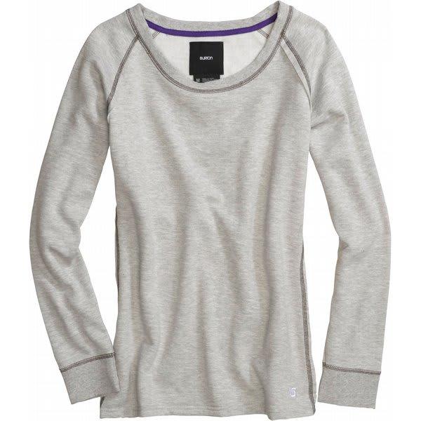 Burton Nordic Pullover Crew Sweatshirt Heather Grey U.S.A. & Canada