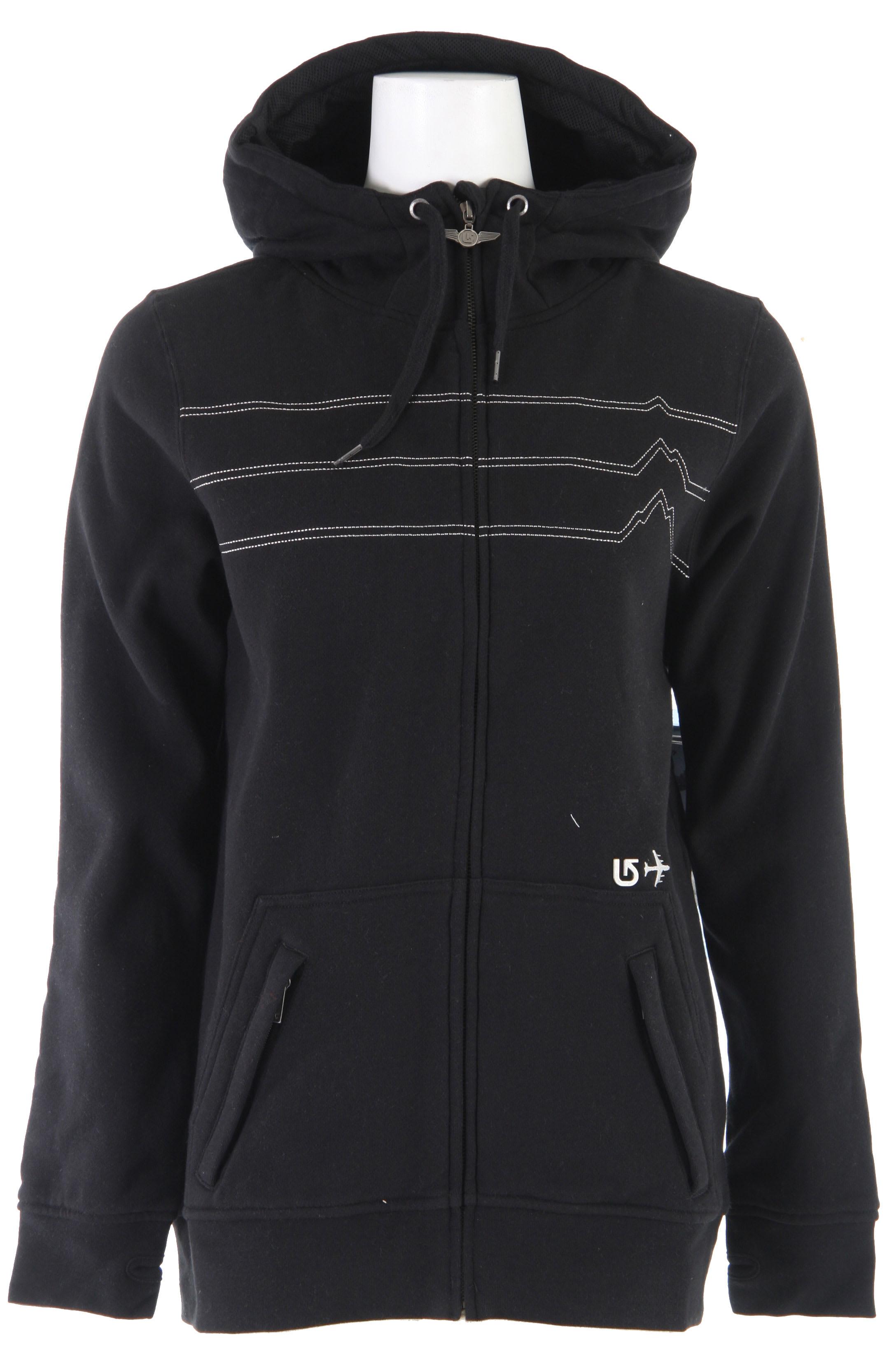 sleeper burton heather ladies pin hoodie