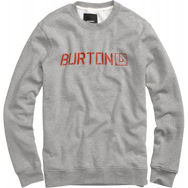 Burton Sub Zero Crew Sweatshirt Heather Grey U.S.A. & Canada