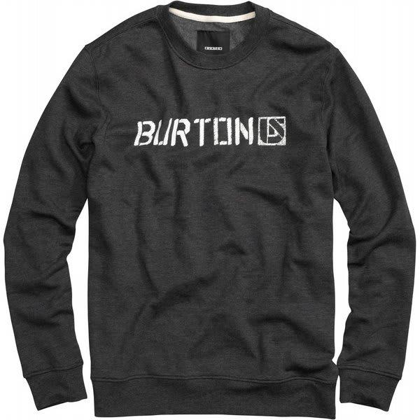 Burton Sub Zero Crew Sweatshirt Heather True Black U.S.A. & Canada