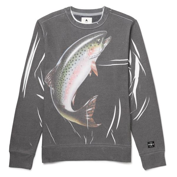 Burton Trout Sublimated Crew Sweatshirt U.S.A. & Canada