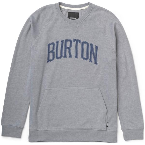 Burton Warm Up Crew Sweatshirt Heather Pewter U.S.A. & Canada