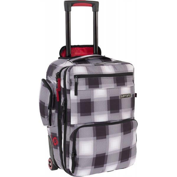 Burton Wheelie Flyer Travel Bag True Black Bobber Plaid U.S.A. & Canada
