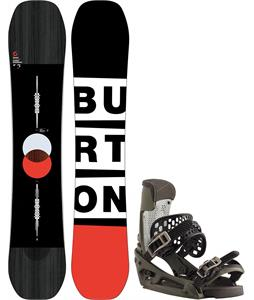 Burton Custom Flying V Snowboard w/ Malavita EST Bindings