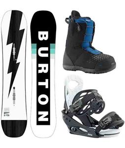 Burton Custom Smalls Snowboard Package