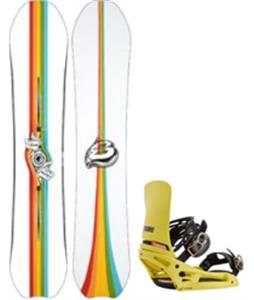 Burton Deep Thinker Snowboard w/ Cartel X EST Bindings