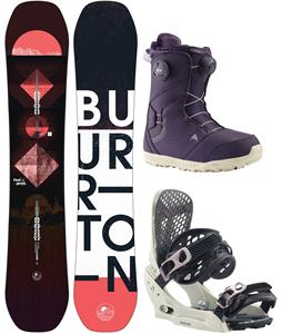 Burton Feelgood Flying V Snowboard Package