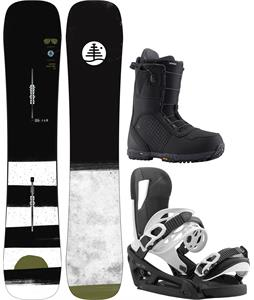 Burton FT Trick Pilot Snowboard Package