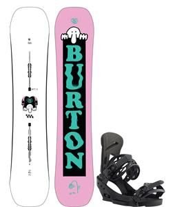 Burton Kilroy Twin Snowboard w/ Mission EST Bindings
