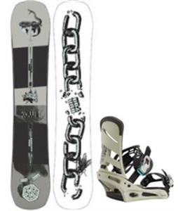 Burton Name Dropper Snowboard w/ Mission Bindings
