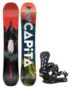 CAPiTA Defenders Of Awesome Snowboard w/ Union STR Snowboard Bindings