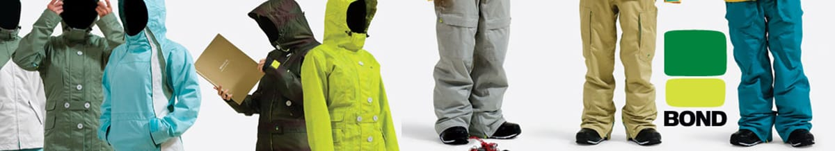 Bond Snowboard Jackets, Pants, Ski Clothing