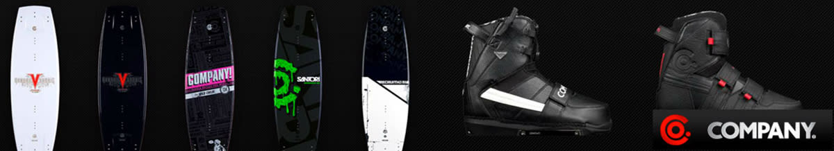 Company Wakeboards, Wakeboard Bindings, Vests, T-Shirts