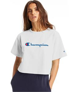 Champion Heritage Script Cropped T-Shirt