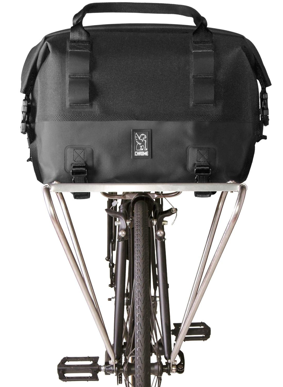 Chrome Knurled Welded Front Rack Duffle Bike Bag