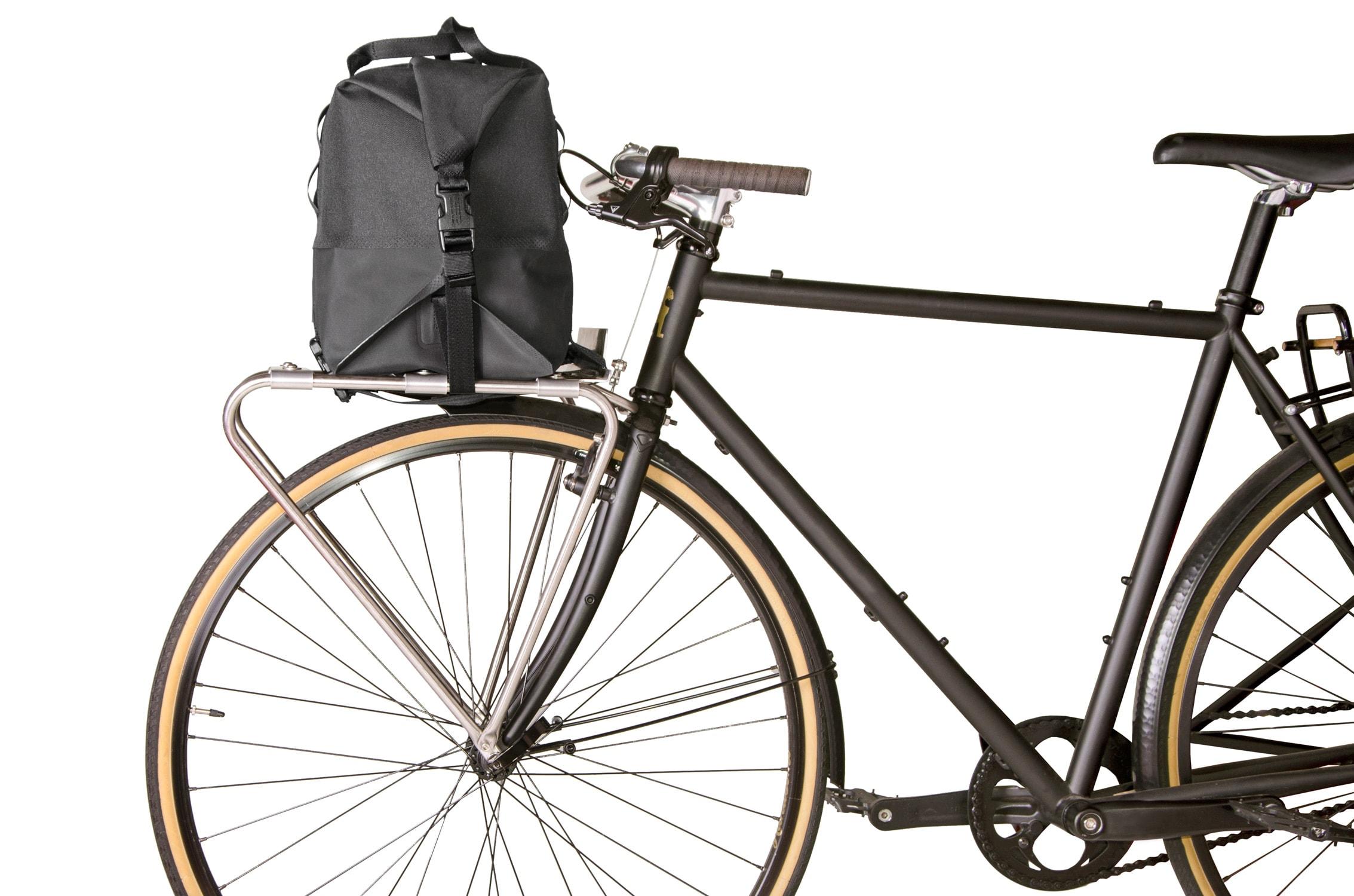 Chrome Knurled Welded Front Rack Duffle Bike Bag Thumbnail 8