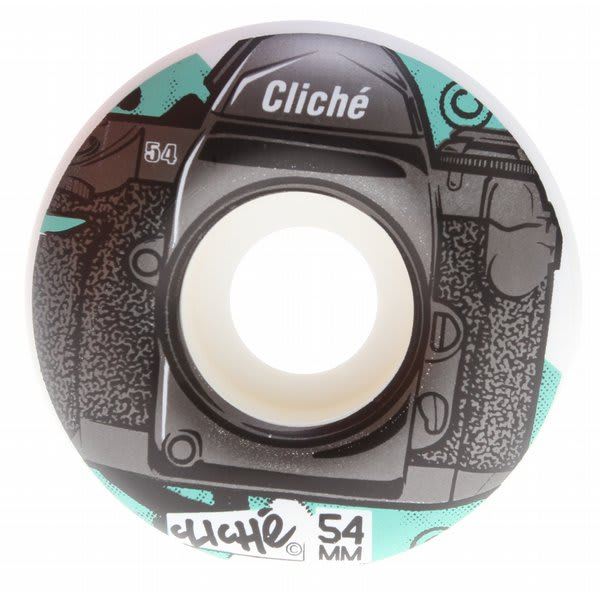 Cliche Lenses Skateboard Wheels Black / Teal 54Mm U.S.A. & Canada