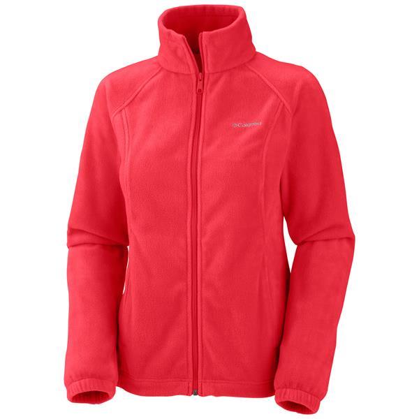 Columbia Benton Springs Full Zip Fleece Red Hibiscus U.S.A. & Canada