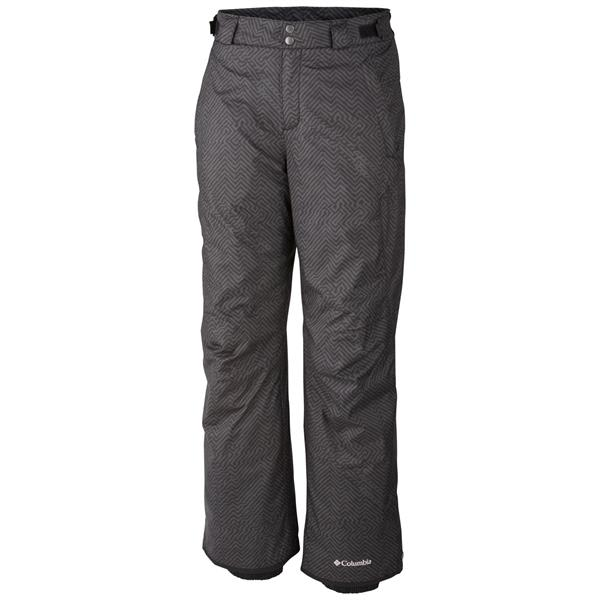 Columbia Bugaboo Ii Ski Pants Black Herringbone Print U.S.A. & Canada