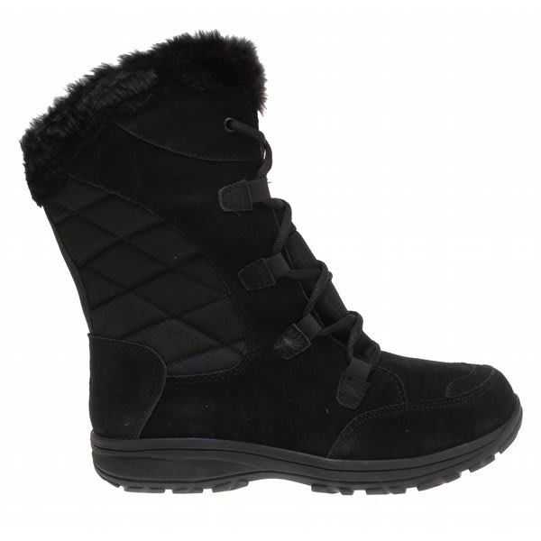Columbia Ice Maiden Lace Boots Black / Bright Rose U.S.A. & Canada