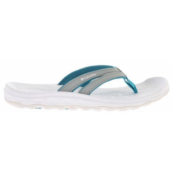 Columbia Techsun Flip Sandals Limestone / Pagoda Blue U.S.A. & Canada