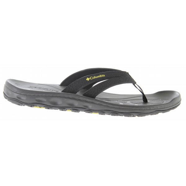 Columbia Techsun Flip Sandals Black / Green Sheen U.S.A. & Canada