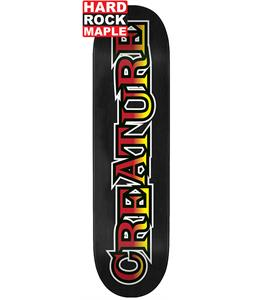 Creature Long Logo Lg Hard Rock Maple Skateboard Deck