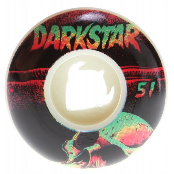 Darkstar Skull Street Formula Skateboard Wheels White / Black 51Mm U.S.A. & Canada