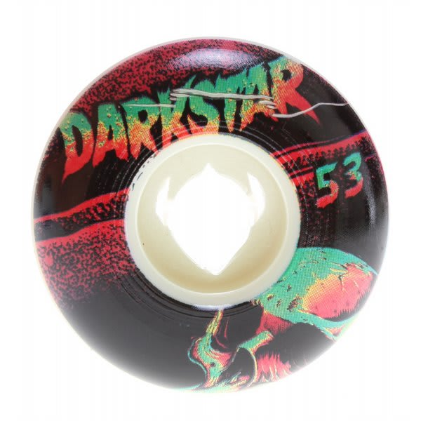 Darkstar Skull Street Formula Skateboard Wheels White / Black 53Mm U.S.A. & Canada