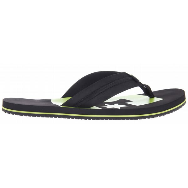 Dc Central Sandals Black / Soft Lime U.S.A. & Canada
